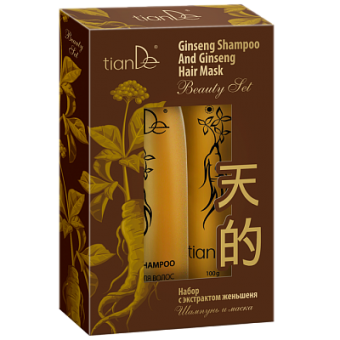 Набор TianDe с экстрактом женьшеня: шампунь+маска